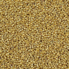 Toho Round Seed Bead 15/0 Permanent Finish Galvanized Starlight 10g (557PF)