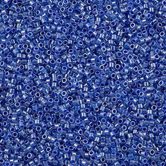 25g Miyuki Delica seed bead 11/0 Inside Dyed Color Blue DB243