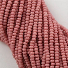 Czech Seed Bead Opaque Dark Rose 1/2 Hank 11/0 11-73050