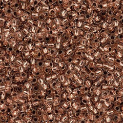 Toho Round Seed Bead 8/0 Copper Lined Crystal 5.5-inch tube (740)