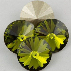 Four Swarovski Crystal 12mm 1122 Rivoli Olivine (228)