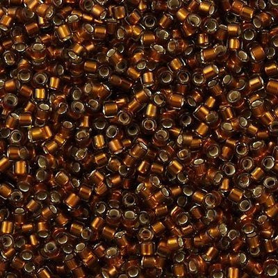 Miyuki Delica Seed Bead 11/0 Silver Lined Glazed Brown 7g Tube DB1682