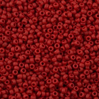 Toho Round Seed Bead 8/0 Opaque Matte Red 30g (45F)