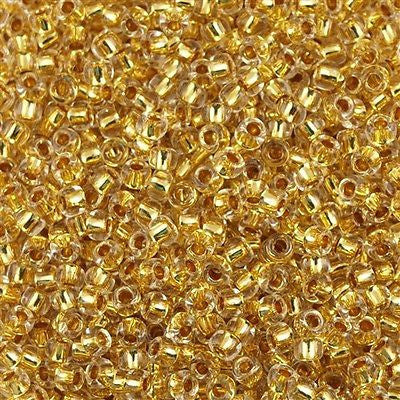 Toho Round Seed Bead 8/0 24k Gold Lined Crystal 30g 8-701
