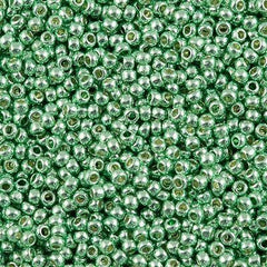 Toho Round Seed Bead 11/0 Permanent Finish Galvanized Mint Green 19g Tube (570PF)