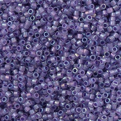 25g Miyuki Delica seed bead 11/0  Lavender Inside Dyed Color Grape Freeze DB1753