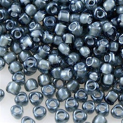 Miyuki Triangle Seed Bead 8/0 Black Inside Color Lined Grey 15g (1841)