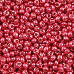 Miyuki Round Seed Bead 6/0 Duracoat Galvanized Light Cranberry 20g Tube (4211)