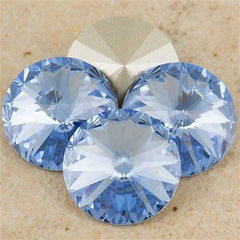 Four Swarovski Crystal 14mm 1122 Rivoli Light Sapphire (211)