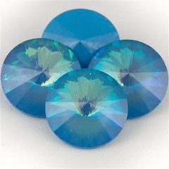 Four Swarovski Crystal 12mm 1122 Rivoli Ultra Blue AB (001 BAB)