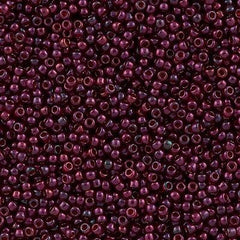 Toho Round Seed Bead 8/0 Gold Luster Raspberry 30g (332)