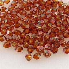 144 Swarovski 5328 Xilion 3mm Bicone Beads Crystal Copper (001 COP)