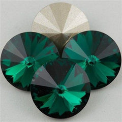 Four Swarovski Crystal 12mm 1122 Rivoli Emerald (205)
