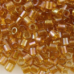 Miyuki Delica Seed Bead Amber Inside Color Lined Topaz 5g 8/0 DBL65