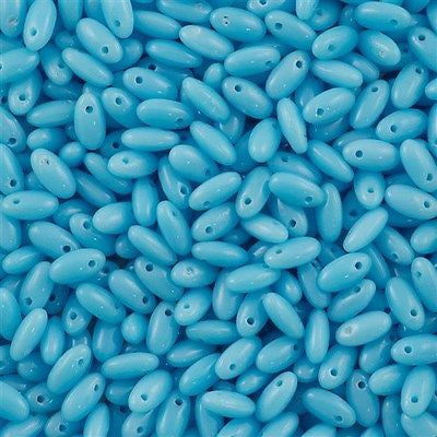 Czech Rizo 2.5x6mm Beads Opaque Light Blue 15g (63030)