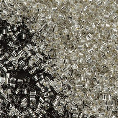 Toho Hex Seed Bead 11/0 Transparent Silver Lined Crystal 7.2g Tube (21)