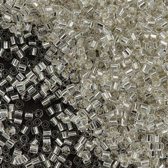 Toho Hex Seed Bead 11/0 Transparent Silver Lined Crystal 15g (21)
