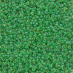 Toho Round Seed Bead 11/0 Inside Color Lined Sour Apple Green 15g (187)