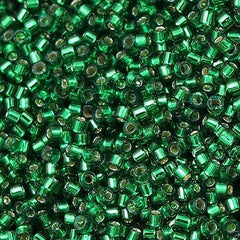 Miyuki Delica Seed Bead 11/0 Emerald Dyed Silver Lined 7g Tube DB605