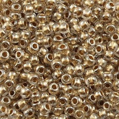 Toho Round Seed Beads 6/0 Inside Color Lined Tan 30g 6-989
