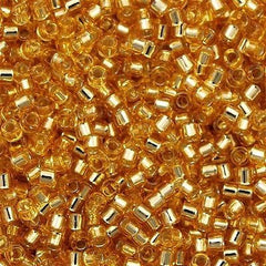Miyuki Delica Seed Bead 11/0 Silver Lined Gold 7g Tube DB42