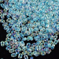 Miyuki Berry Seed Bead Inside Color Lined Glacier Blue AB 15g (269)