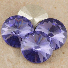 Four Swarovski Crystal 14mm 1122 Rivoli Tanzanite (539)