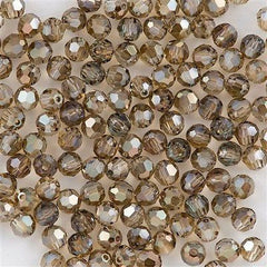 Swarovski Crystal 6mm 5000 Round Bead Crystal Bronze Shade (001 BRSH)