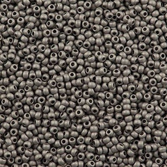 Toho Round Seed Bead 11/0 Metallic Matte Antique Silver 19g Tube (566)