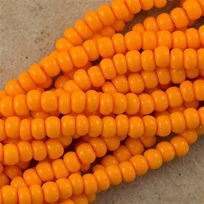 Czech Seed Bead Opaque Light Orange 30g 6/0 (93110)