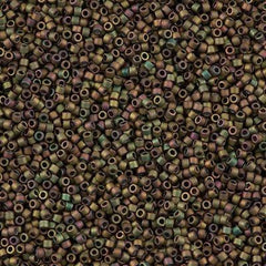 Miyuki Delica Seed Bead 11/0 Matte Opaque Luster Bronze AB 7g Tube DB380