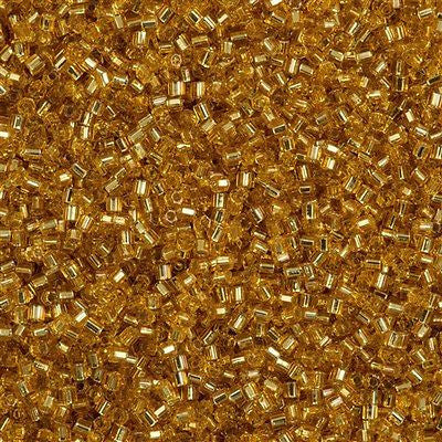 Toho Hex Seed Bead 11/0 Silver Lined Medium Gold 7.2g Tube (22B)
