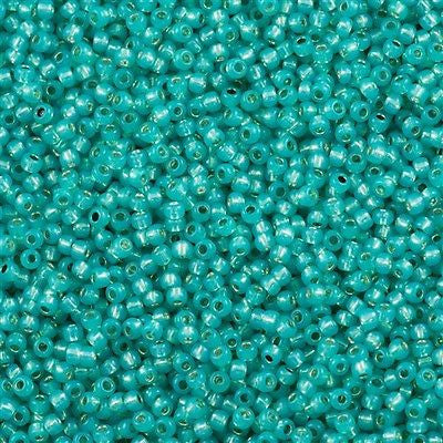 Toho Round Seed Bead 8/0 Silver Lined Milky Teal 30g (2104)