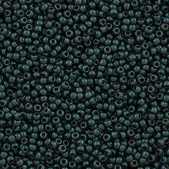 Toho Round Seed Beads 11/0 Higher Metallic Matte Teal Hematite 15g 11-519F