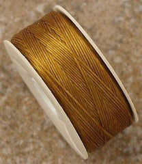 Size B Nymo Nylon Yellow Gold Thread 72 yrd bobbin