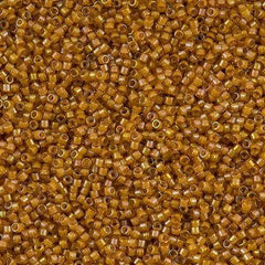 Miyuki Delica Seed Bead 11/0 Inside Dyed Color Light Amber 7g Tube DB272
