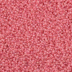 Miyuki Round Seed Bead 15/0 Inside Color Lined Coral Luster 10g (2200)