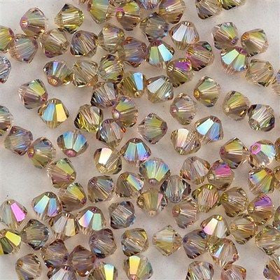 144 Swarovski 5328 Xilion 4mm Bicone Bead Crystal Purple Haze (001 PH)