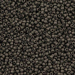 50g Toho Round Seed Beads 11/0 Higher Metallic Gray (602F)