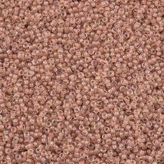 Miyuki Round Seed Bead 15/0 Inside Color Lined Blush AB 10g (2199)