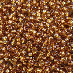 Toho Round Seed Bead 8/0 Transparent Honey Comb AB 5.5-inch tube (1853)