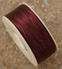 Size D Nymo Nylon Burgundy Thread 64 yard bobbin