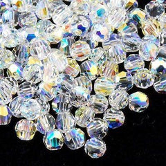 12 Swarovski Crystal 4mm Faceted Round Bead Crystal AB (001 AB)