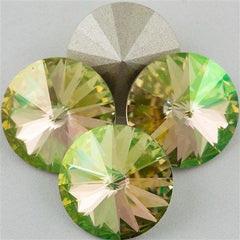 Four Swarovski Crystal 14mm 1122 Rivoli Crystal Luminous Green (001 LUMG)