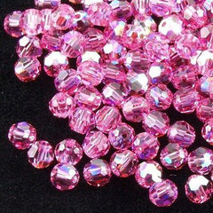 Swarovski Crystal 6mm 5000 Round Bead Rose AB (209 AB)