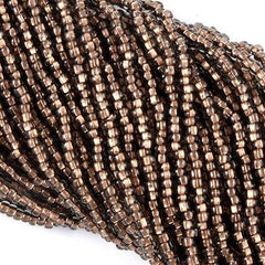 Czech Seed Bead Copper Lined Black Diamond 1/2 Hank 8/0 (49010)