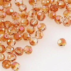 12 Swarovski Crystal 4mm Faceted Round Bead Crystal Copper (001 COP)