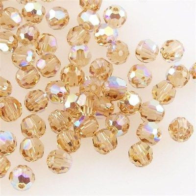 7006ea8fc Swarovski 4mm 5000 Round Bead Light Colorado Topaz AB (246 AB ...
