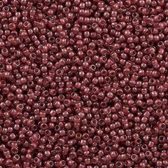 Toho Round Seed Bead 11/0 Transparent Luster Rose Lined Mauve 19g Tube (291)