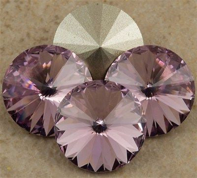 Four Swarovski Crystal 12mm 1122 Rivoli Light Amethyst (212)